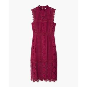Brand New w Tags Wine / Burgundy Lace Midi Dress
